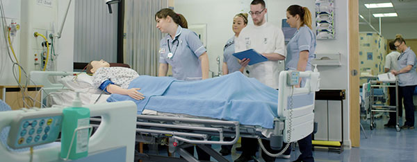 Nursing simulation scene